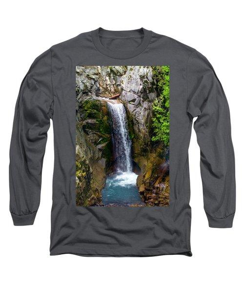 Christine Falls Mt Rainier Long Sleeve T-Shirt
