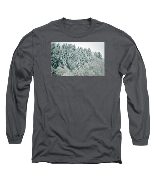 Long Sleeve T-Shirt featuring the photograph Christmas Forest - Winter In Switzerland by Susanne Van Hulst