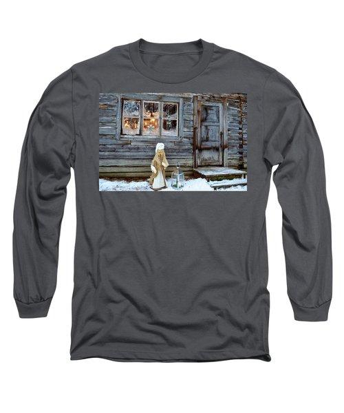 christmas in Scandinavia Long Sleeve T-Shirt by Tamara Sushko