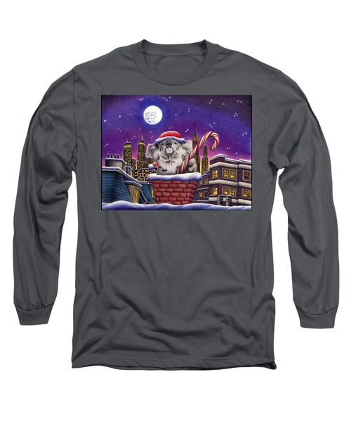 Christmas Koala In Chimney Long Sleeve T-Shirt