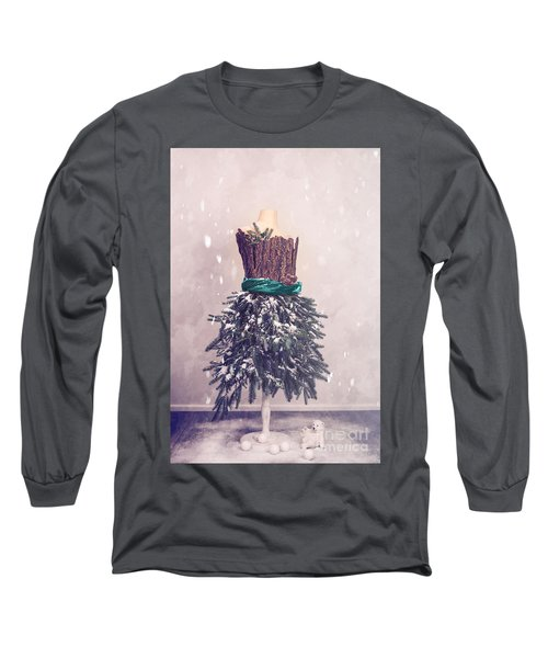 Christmas Mannequin Dressed In Fir Branches Long Sleeve T-Shirt