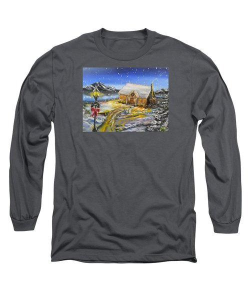 Long Sleeve T-Shirt featuring the painting Christmas On The Bay by Kevin F Heuman