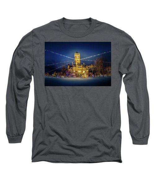 Long Sleeve T-Shirt featuring the photograph Christmas On The Square 2 by Michael Arend