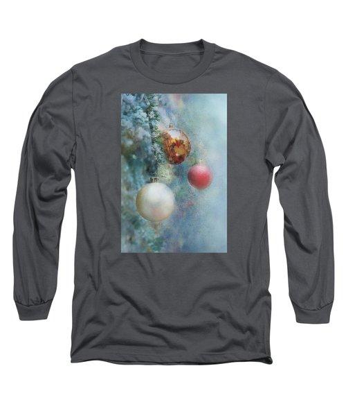Christmas - Ornaments Long Sleeve T-Shirt by Nikolyn McDonald