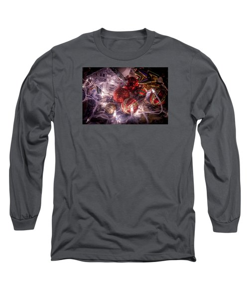 Long Sleeve T-Shirt featuring the photograph Christmas Ornamments by Ray Congrove