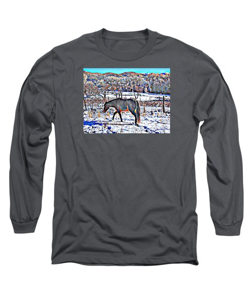 Long Sleeve T-Shirt featuring the photograph Christmas Roan El Valle II by Anastasia Savage Ealy