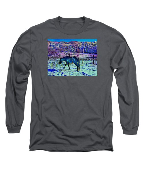 Long Sleeve T-Shirt featuring the photograph Christmas Roan El Valle Iv by Anastasia Savage Ealy
