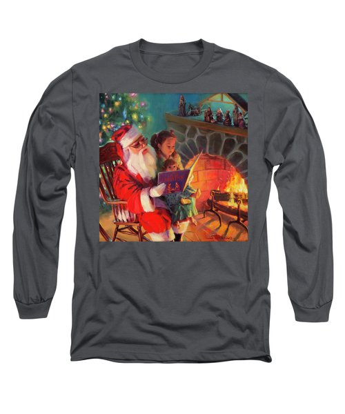 Long Sleeve T-Shirt featuring the painting Christmas Story by Steve Henderson