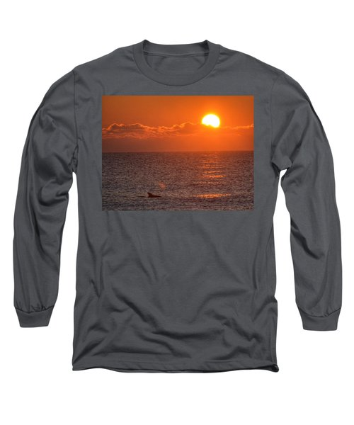 Christmas Sunrise On The Atlantic Ocean Long Sleeve T-Shirt by Sumoflam Photography