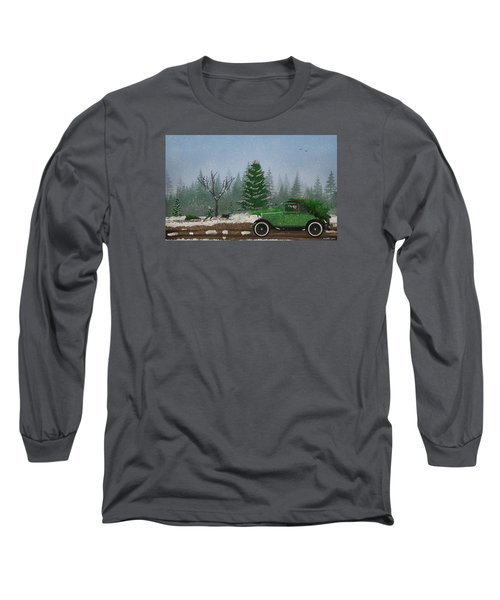 Christmas Tree Hunters Long Sleeve T-Shirt by Ken Morris