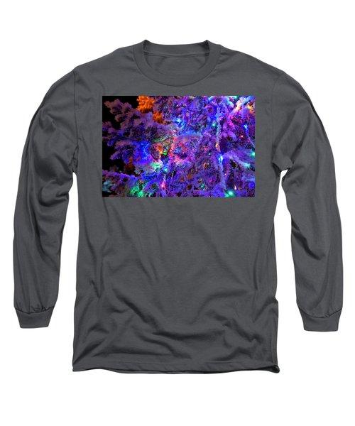 Christmas Tree Night Decoration Long Sleeve T-Shirt