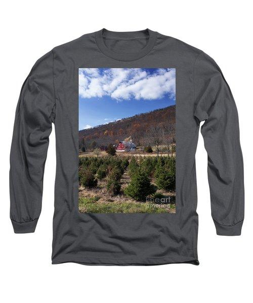Christmas Tree Shopping Long Sleeve T-Shirt by Nicki McManus