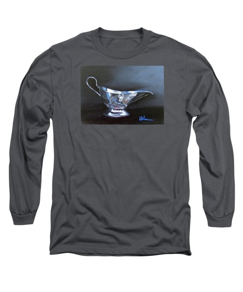 Chrome Reflections Long Sleeve T-Shirt by LaVonne Hand