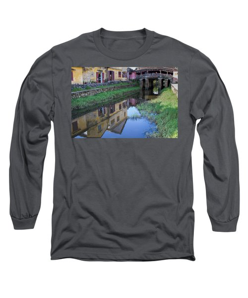 Long Sleeve T-Shirt featuring the photograph Chua Cau Reflection by Hitendra SINKAR