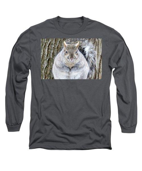 Chubby Squirrel Long Sleeve T-Shirt by Brook Burling
