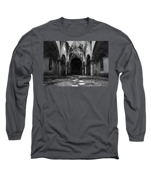 Church In Black And White Long Sleeve T-Shirt