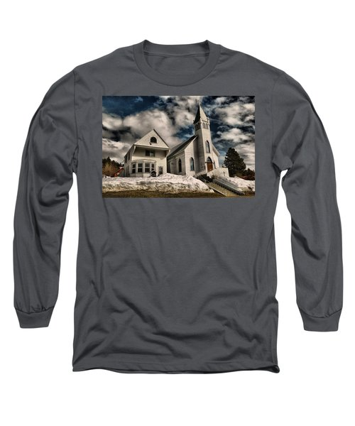 Long Sleeve T-Shirt featuring the photograph Church Of The Immaculate Conception Roslyn Wa by Jeff Swan