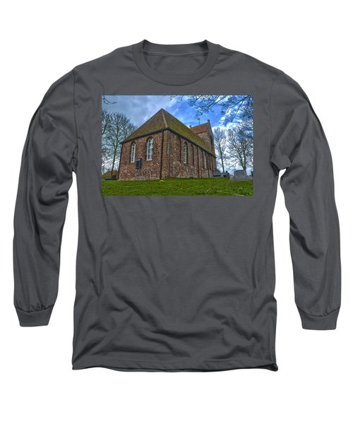 Church On The Mound Of Oostum Long Sleeve T-Shirt by Frans Blok