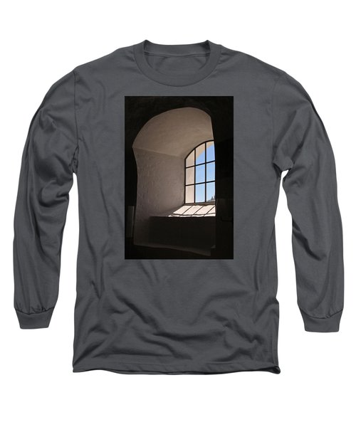 Long Sleeve T-Shirt featuring the photograph Church Window by Inge Riis McDonald