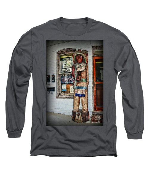 Long Sleeve T-Shirt featuring the photograph Cigar Store Indian by Paul Ward