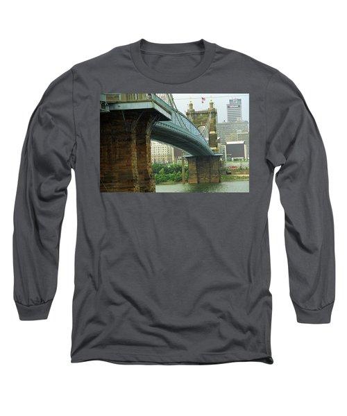 Cincinnati - Roebling Bridge 2 Long Sleeve T-Shirt by Frank Romeo