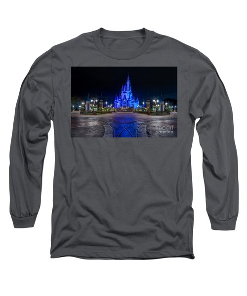 Cinderellas Castle Glow Long Sleeve T-Shirt