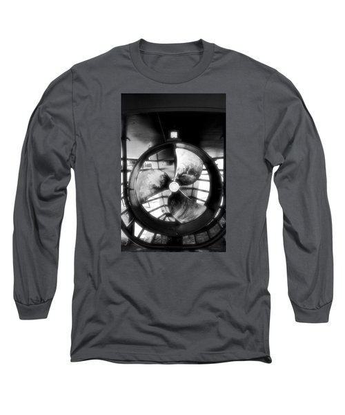 Circle And Line Long Sleeve T-Shirt by Newel Hunter
