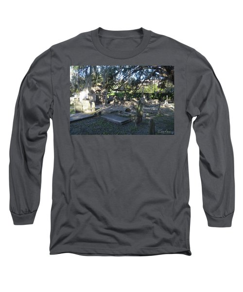 Circular Congregational Graveyard 1 Long Sleeve T-Shirt by Gordon Mooneyhan