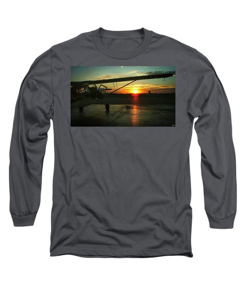 Citabria Peeking Out Of The Hangar Door Long Sleeve T-Shirt
