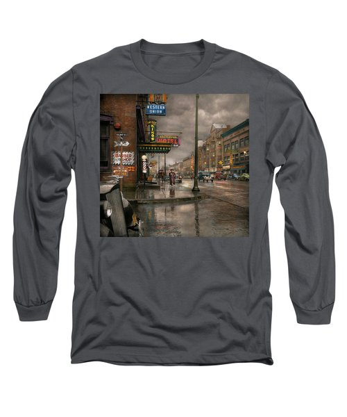 City - Amsterdam Ny -  Call 666 For Taxi 1941 Long Sleeve T-Shirt