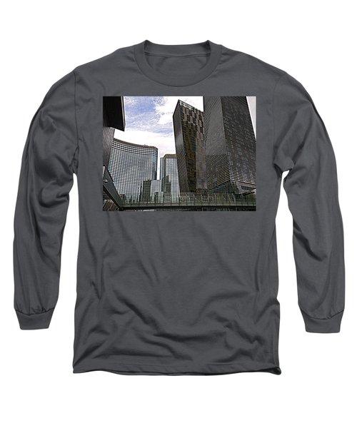 City Center At Las Vegas Long Sleeve T-Shirt by Karen J Shine
