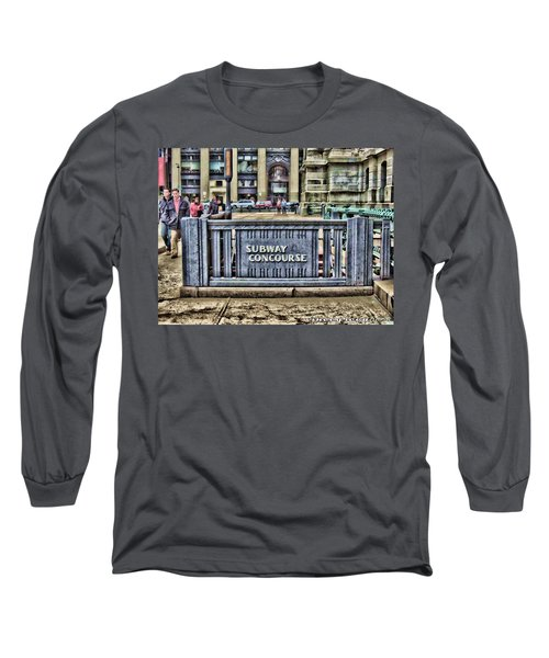 City Hall Sidewalk Long Sleeve T-Shirt