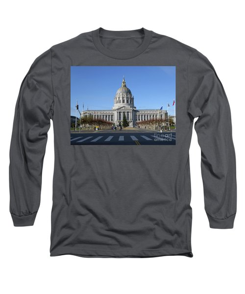 Long Sleeve T-Shirt featuring the photograph City Hall by Steven Spak