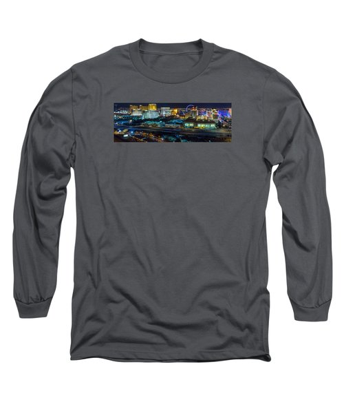 Long Sleeve T-Shirt featuring the photograph City Lifescape View Las Vegas by Michael Rogers