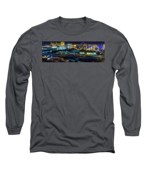 City Lifescape View Las Vegas Long Sleeve T-Shirt