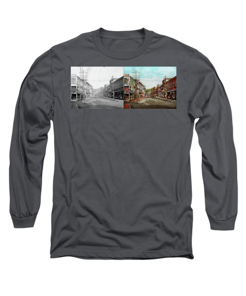 Long Sleeve T-Shirt featuring the photograph City - Ma Glouster - A Little Bit Of Everything 1910 - Side By Side by Mike Savad