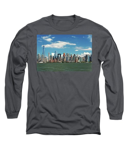 Long Sleeve T-Shirt featuring the photograph City - New York Ny - The New York Skyline by Mike Savad