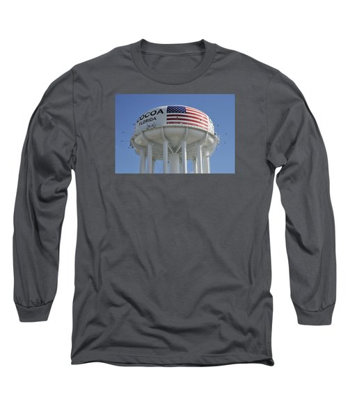 Long Sleeve T-Shirt featuring the photograph City Of Cocoa Water Tower by Bradford Martin