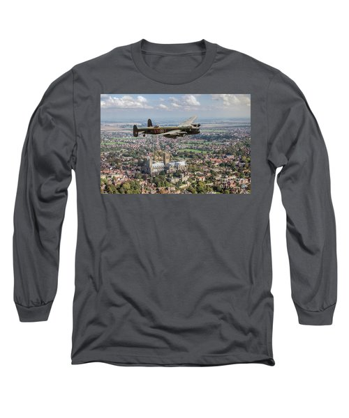 Long Sleeve T-Shirt featuring the photograph City Of Lincoln Vn-t Over The City Of Lincoln by Gary Eason