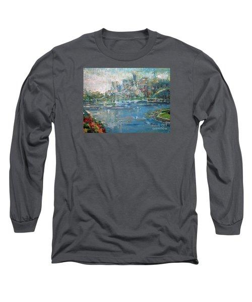 City On The Bay Long Sleeve T-Shirt by John Fish