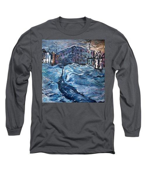 City Snow Storm Long Sleeve T-Shirt