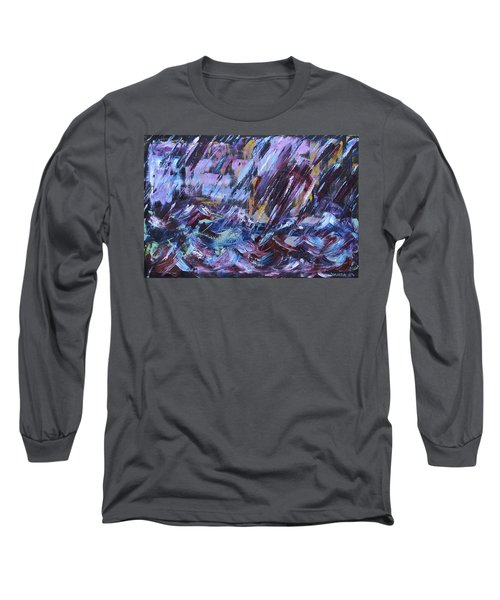 City Storm Abstract Long Sleeve T-Shirt