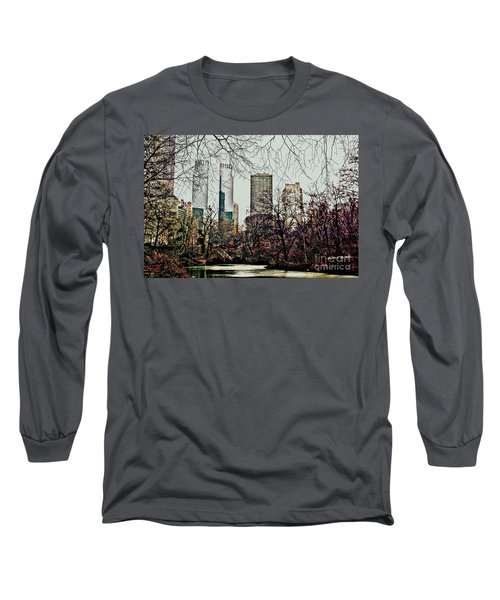 Long Sleeve T-Shirt featuring the photograph City View From Park by Sandy Moulder