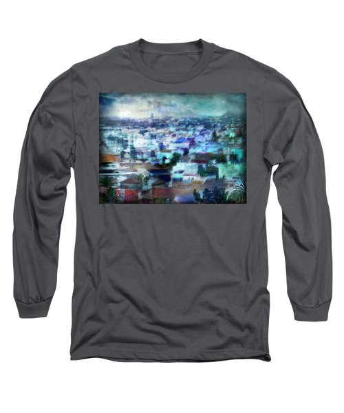Long Sleeve T-Shirt featuring the photograph Cityscape #41 - Blue Whispers by Alfredo Gonzalez