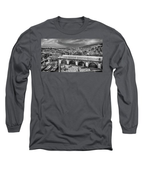 Cityscape Of Florence And Cemetery Long Sleeve T-Shirt by Sonny Marcyan