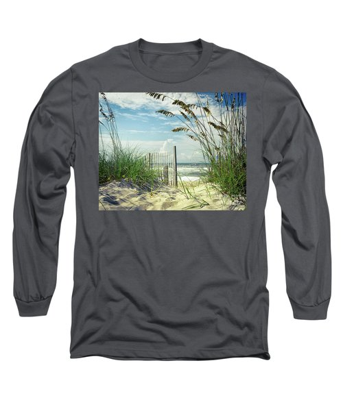 To The Beach Sea Oats Long Sleeve T-Shirt