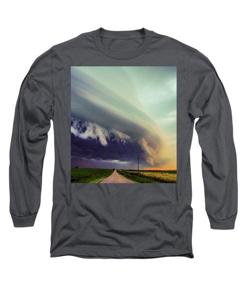 Classic Nebraska Shelf Cloud 024 Long Sleeve T-Shirt