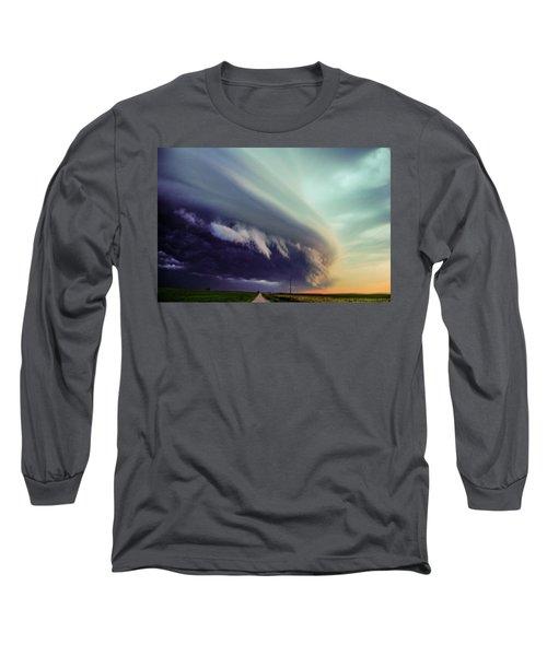 Classic Nebraska Shelf Cloud 027 Long Sleeve T-Shirt
