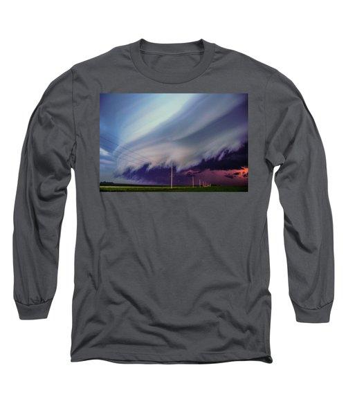 Classic Nebraska Shelf Cloud 028 Long Sleeve T-Shirt