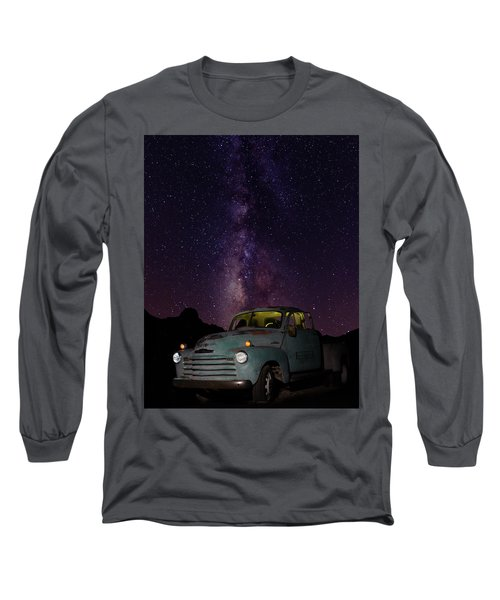 Long Sleeve T-Shirt featuring the photograph Classic Truck Under The Milky Way by James Sage